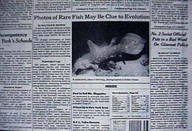 COELACANTH in the News!